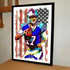 Josh Allen Buffalo Bills QB Football Sports Poster Print Wall Art 18x24