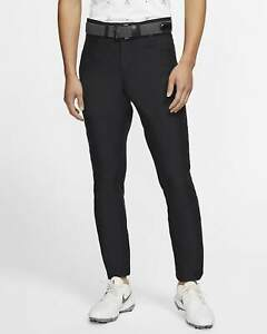 Nike Mens Slim Fit 6 Pocket Black Slim/Dri Fit Golf Pants-New-36/34 BV0278-010