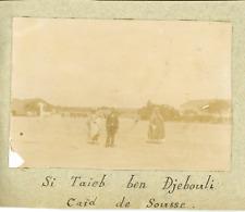 Tunisie, Si Taïeb ben Djebouli, Caïd de Sousse ca.1897 vintage citrate print Vin