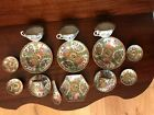 Lot of 16 pieces 19th C. Rose Medallion dishes, cups, spoon, and more