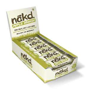 NAKD Fruit & Nut Wholefood Bar Raw Vegan Gluten Free No Added Sugar  Pack of 18