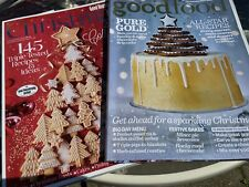 Set Of Two Festive Christmas Cooking Baking Food Magazines