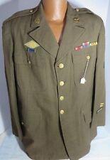 US Army AAF uniform Jacket Sz46R Theater CBI & 10th Air Force RARE Large Size