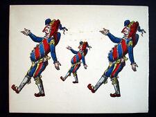 Vintage Imagerie Pellerin Assorted Jesters/Harlequins Greeting Cards InvKK