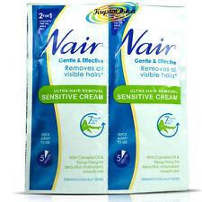 2x 30ml Nair Sensitive Skin Hair Removal Cream Sachets