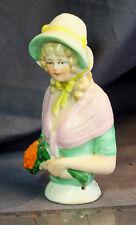 Cojín De Porcelana Alemana Década de 1920 Pin la mitad de la muñeca, En Excelentes Condiciones