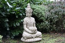 Lotus Buddha Statue Large Stone Garden Ornament Detailed Sculpture Handcast Koi