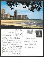 1967 Illinois Postcard - Chicago - Oak Street Beach, Gold Coast, Plastichrome