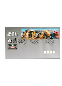HEAVY HAULAGE 2008 - First day Cover of Sheet Stamps