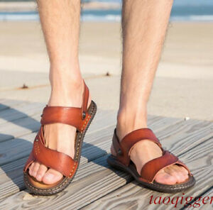Men's gladiator beach sandals slippers Leisure Fashion water-resistance shoes