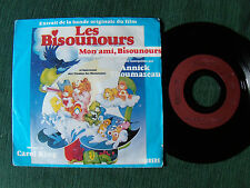 """LES BISOUNOURS, B.O. film / ANNICK THOUMAZEAU 7"""" CARRERE 13945 care bears movie"""
