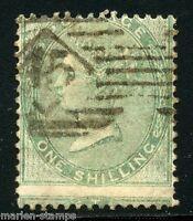 GREAT BRITAIN  ONE SHILLING GREEN  SCOTT#28  USED LOT II