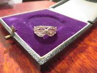 Wundervoller 925 Sterling Silber Ring Zirkonia Modern Elegant Super Design Chic