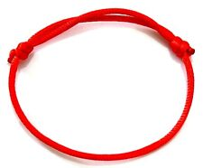 Hand Made RED STRING ~ ~ lucky bracelet kabbalah against evil eye success/luck