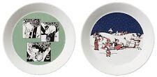 Moomin Collectors Plates Green and Christmas Arabia Finland 2014 *New