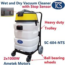 TCS Commercial 90L Wet Vacuum Cleaner 2000W with a Stop Sensor & Trolley