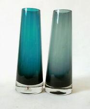 "70s 2 x Riihimäen Lasi Oy ""1364"" H 22 cm Glas Vase Tamara Aladin glass Riihimäki"