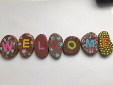 Welcome - Hand Painted Rocks Stone Art