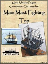 "Constitution Main Mast ""Fighting Top"" (Mast 18"" Tall, Yardarm 9"" Long)"