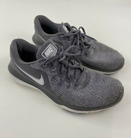 Nike Womens Flex Supreme TR6 909014-019 Gray White Running Shoes Lace Up Size 11