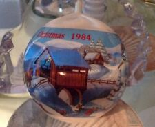 "1984 Satin Ball Christmas Ornament 3"" By General Foam Plastics Usa"