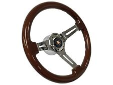 1984 - 1989 Cadillac S6 Sport Wood Steering Wheel Kit | Telescopic Hub Adapter