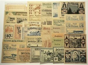 Austria Germany Notgeld Lot of 31 Different Notes 1920 #11369