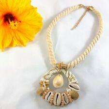 Short Necklace Sea Shells Combine Metal Crystal Beads European Stylish