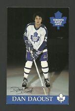 Dan Daoust Toronto Maple Leafs Vintage Hockey Postcard Signed Autographed