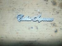 84 85 86 87 88 OLDSMOBILE Cutlass Supreme Sail Panel Roof Side EMBLEM