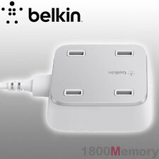 BELKIN 4 Port USB Home AC Wall Charger 3m USB Cable Family Rockstar 5.4Amp 27W
