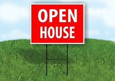 Open House Red Plastic Yard Sign Road Sign with Stand