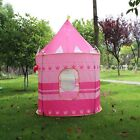 Portable Pink Folding Play Tent Kids Girl Princess Castle Fairy Cubby House