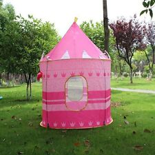 Portable Pink Folding Play Tent Girls Children Princess Castle Fairy Cubby House