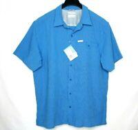Columbia omni shade sun protection short sleeve men's shirt size L Nwt