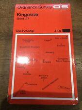 """1960s Old Vintage OS Ordnance Survey 1"""" Map Sheet 37 Kingussie"""