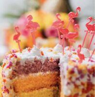 Flamingo Cake Sandwich Cupcake Picks Toppers X 24
