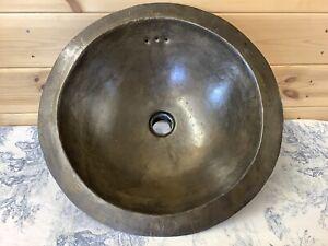 Vintage French Handmade Brass Sink, Bowl, Basin