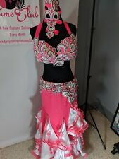 Pink White Sparkle Bellydance Dance Ballroom Dress Costume Performances