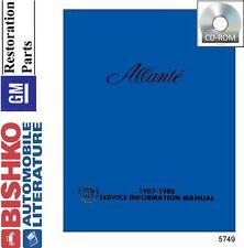 1989 Cadillac Allante Service Shop Repair Manual Engine Drivetrain Electrical