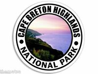 "CAPE BRETON HIGHLANDS NATIONAL PARK TOOLBOX HELMET STICKER DECAL 4"" MADE IN USA"