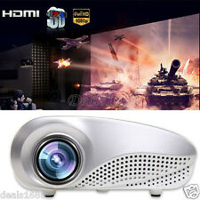 Home Multimedia Cinema Theater 3D Projector LED LCD HD AV TV PC VGA USB HDMI SD