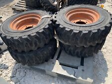 105 165 Tires And Runs Skid Steer 6 Lug Set Of 4 Titan Hd2000 8 Ply New