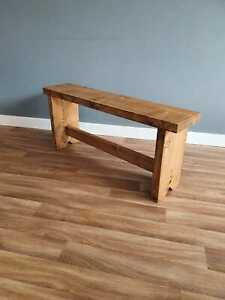 Handmade Rustic Chunky Wooden Bench Rustic Legs Kitchen/Dining/Garden