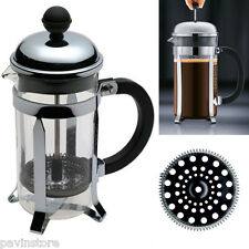 Bodum Chambord 3 Cup Glass French Press Stainless Steel Coffee Tea Maker Kitchen