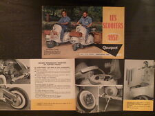 Brochure scooters PEUGEOT S57 S157 1957 - Dépliant - Catalogue 4 pages