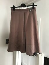 BNWT Atmosphere Size 12 Brown Satin Knee Length Skirt (D5)