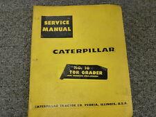 Caterpilar Cat No 16 Motor Grader Shop Service Repair Manual S/N 49G1-49G304