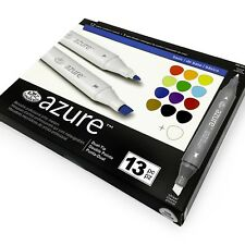 Royal and Langnickel - Azure Artists Markers - Dual Tip - Basic Set of 13