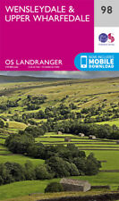 Wensleydale & Upper Wharfedale Landranger Map 98 Ordnance Survey 2016